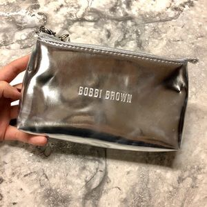 •Metallic Bobbi Brown Clutch/Makeup Bag•